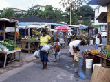 Fruit and Vegetable Market at Scarborough  Tobago  West Indies  Caribbean  Central America
