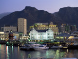 The Victoria and Alfred Waterfront  in the Evening  Cape Town  South Africa  Africa