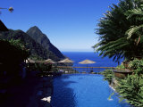 The Pool at the Ladera Resort Overlooking the Pitons  St Lucia  Windward Islands