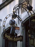 Decorated Sign of Locally Produced Beer Called Gaffel Kolsch in Old Town  North Rhine Westphalia
