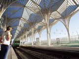 The Modern Oriente Railway Station  Designed by Santiago Calatrava  Lisbon  Portugal
