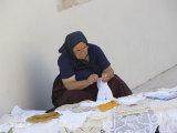 Old Woman Crocheting  Hvar  Croatia