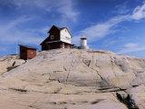 The Lighthouse on Stora Svangen  off the Island of Reso  Bohuslan  Sweden  Scandinavia