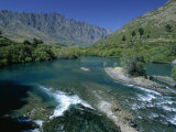 The Kawarau River  the Outflow of Lake Wakatipu at Frankton  Near Queenstown  Otago
