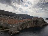 Dubrovnik  Unesco World Heritage Site  View from Fortress Lovrijenac  Dalmatian Coast  Croatia
