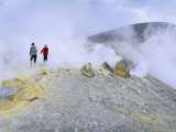 Fumaroles on the Crater Edge  Island of Vulcano  Aeolian Islands  Sicily