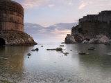 The Bay in Dubrovnik at Dusk  Dalmatian Coast  Croatia