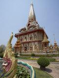 Temple  Wat Chalong  Phuket  Thailand  Southeast Asia