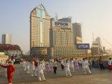 Morning Exercise  the Bund  Huangpu  Shanghai  China