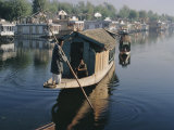 Houseboats on the Lake at Srinagar  Kashmir  Jammu and Kashmir State  India