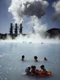 Blue Lagoon  Svarsengi Geothermal Plant  Iceland  Polar Regions