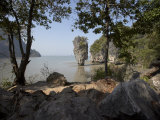 The Famous Rock from the Bond Movie  View from Ko Tapu  James Bond Island  Phang Nga  Thailand