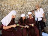 Actors in the Moorish Castle  Sesimbra  Portugal