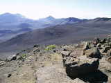 Part of the Vast Crater of 10023 Ft Haleakala  Seen from Sliding Sands Trail  Hawaii