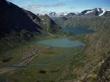Jotunheimen  Leirungen  and Lake Gjende  Norway  Scandinavia
