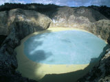 One of Three Crater Lakes at the Summit of Kelimutu Volcano Near Moni