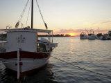Sunset in Supetar  Island of Brac  Dalmatian Coast  Croatia