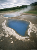 Hot Water Pools in This Area of Geothermal Activity  Geysir  Iceland  Polar Regions