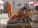 Market in Dubrovnik  Dalmatia  Croatia