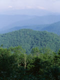 Looking Over the Appalachian Mountains from the Blue Ridge Parkway in Cherokee Indian Reservation