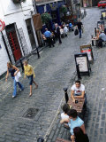 Bars and Restaurants in Ashton Lane  West End Area  Glasgow  Scotland  United Kingdom