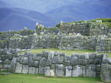 Inca Masonry  Fortress of Sacsayhuaman  Cusco  Peru  South America