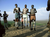 Jumping Fertility Dance  Karo Tribe  Omo River  Ethiopia  Africa