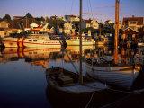 Sundown Over South Harbour  Village of Fjallbacka  Bohuslan  Sweden  Scandinavia