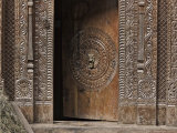 Wooden Doorway  Manali  Himachal Pradesh State  India