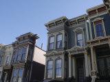 Victorian Homes  Haight District  San Francisco  California  USA