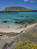 Cala Comta and the Rocky Islet of Illa d'Es Bosc  Near Sant Antoni  Ibiza  Balearic Islands  Spain