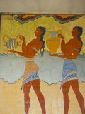 Mural Paintings  Corridor of the Procession  Minoan  Knossos  Island of Crete  Greece
