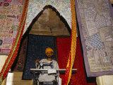 Textile Worker at His Sewing Machine  Jaisalmer  Rajasthan State  India
