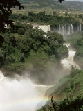 Tis Isat Falls on the Blue Nile  Ethiopia  Africa