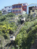 Traditional Cable Cars  Valparaiso  Unesco World Heritage Site  Chile  South America