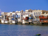 Waterfront of the Little Venice Quarter  Mykonos  Cyclades Islands  Greece  Mediterranean