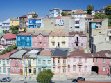 Traditional Colorful Houses  Valparaiso  Unesco World Heritage Site  Chile  South America