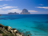 The Rocky Islet of Es Vedra from Cala d'Hort  Near Sant Antoni  Ibiza  Balearic Islands  Spain