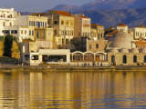 Hania Seafront and Levka Ori in the Background  Hania  Island of Crete  Mediterranean