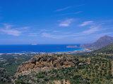 Aerial View of Falassarna Coastline and Beach  Falassarna  Island of Crete  Greece