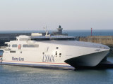 Stena Line 'Sea Lynx' Trimaran  Dieppe Harbour  France