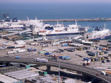 Ferry Terminal at Dover Harbour  Kent  England  United Kingdom