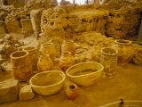 Ancient Minoan Pottery  Ancient Akrotiri Museum  Akrotiri  Cyclades Islands