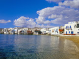 Little Venice Quarter and Harbour  Mykonos  Cyclades Islands  Greece  Mediterranean
