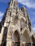 West Front of Reims Cathedral  Dating from 13th and 14th Centuries  France