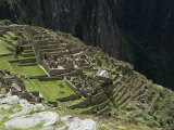 Inca Ruins  Machu Picchu  Unesco World Heritage Site  Peru  South America