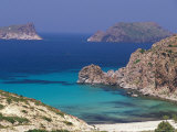 Aerial View of Plathiena Beach and Rocks  North of Plaka  Milos  Cyclades Islands  Greece