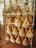 Parma Hams on Curing Racks  Near Pavullo  Emilia-Romagna  Italy