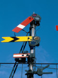 Home and Distant Signals (Gwr) on Gantry  Newton Abbot  Devon  England  United Kingdom