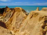 Red Rock Formations of Morro Branco on the Ceara Coastline  Near Canoa Quedrada  Ceara'  Brazil